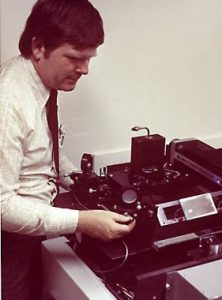 Gary Starkweather, working on the first laser printer model.