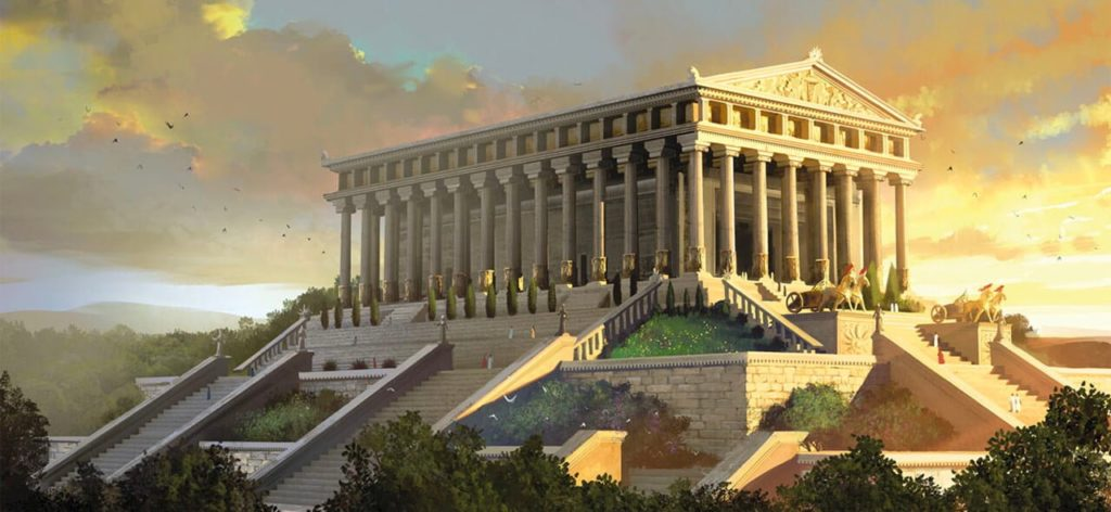 The Temple of Artemis at Ephesus was considered the most impressive structure ever raised by human beings